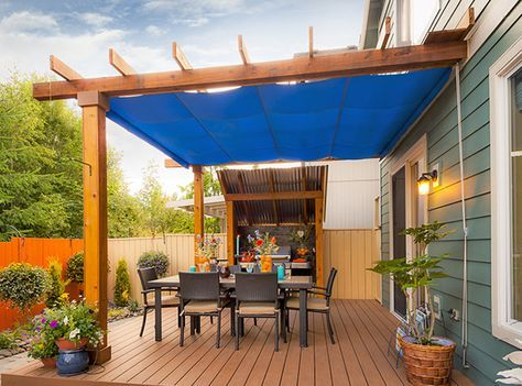 Retractable Patio Cover in Vancouver | ShadeFX Canopies. Very basic. Probably pretty reasonably priced