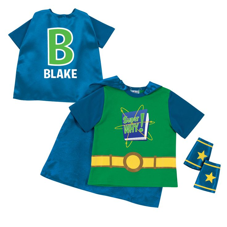 The Official PBS KIDS Shop | Super Why! Logo and Letter Green Super Tee & Cuff Set