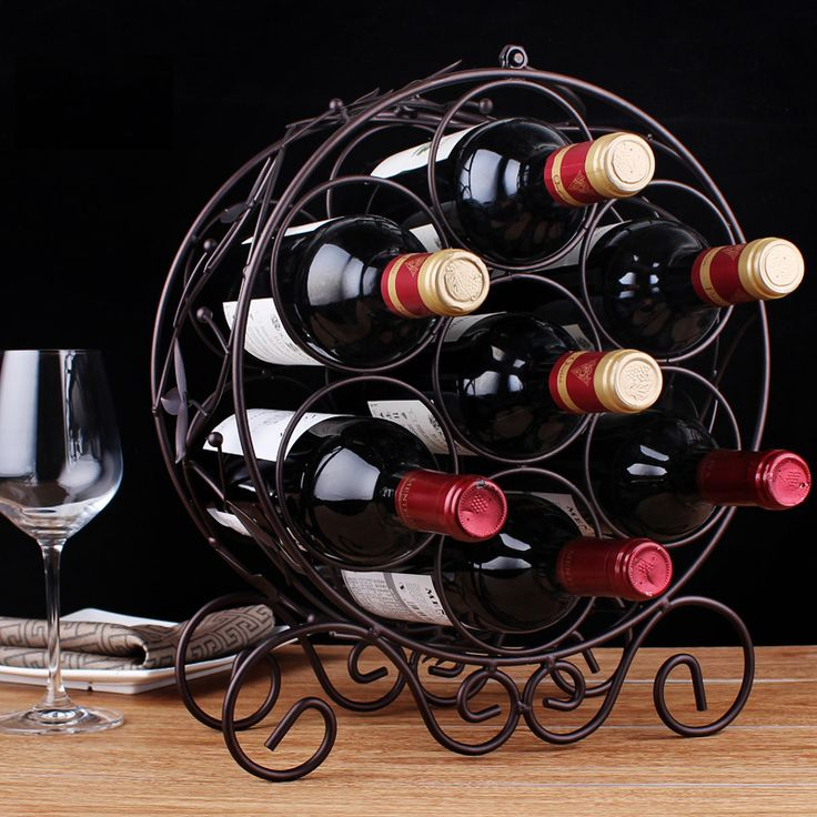 Fashion Iron Wine Rack, Decorative Metal Wine Racks for 7 Bottles ,Home Decoration Bar Accessories Free Shipping