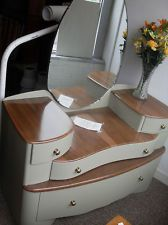 Upcycled/Retro dressing table with 4 drawers and mirror - stunning item