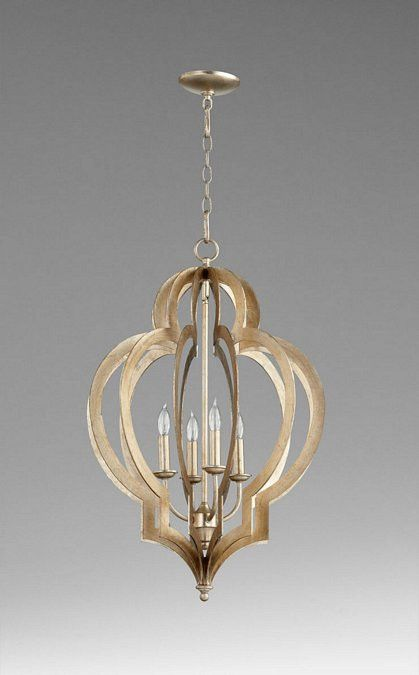 Cyan design small vertigo silver leaf chandelier 05971