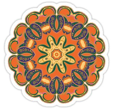 Colorful mandala green and orange by Argunika  See all products - redbubble.com/people/argunika   #Argunika #redbubble #redbubblecreate #RedbubbleArtist #surfacedesign #surface #dress #tshirt #leggings #zen #psychedelic #boho #bohemian #hippie #boholook #yoga #yogaclothing #yogapants #abstract #bag #zenlife #ornament #pillow #duvet #home #decor #interior #homedecor #design #paisley #mandala