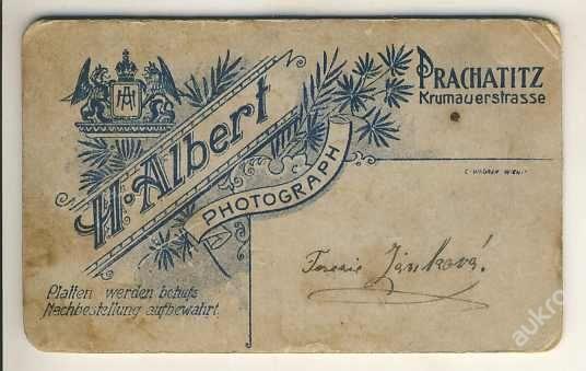 PRACHATICE - H. Albert - kabinetka - fotografie formát 6x10.