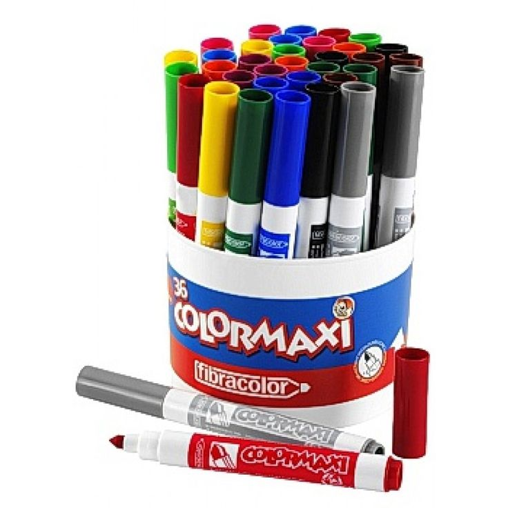 Fiberpenna Colormaxi 3 x 12 färger