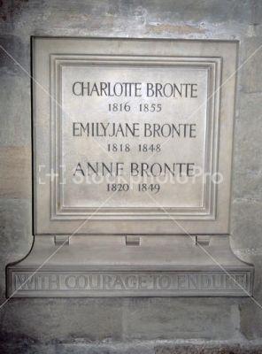 Brontë Memorial, Poet's Corner, Westminster Abbey