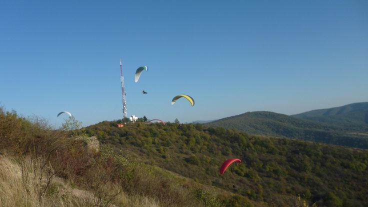 Paragliding at Siria, Romania