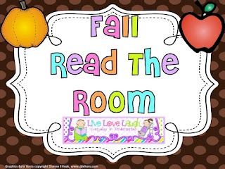Fall Read The Room FREEBIE: Classroom Idea, Reading The Rooms, Rooms Freebies, Laughing Everyday, Literacy Work Stations, Kindergarten Classroom, Fall Reading, Kindergarten Fall, Fall Schools