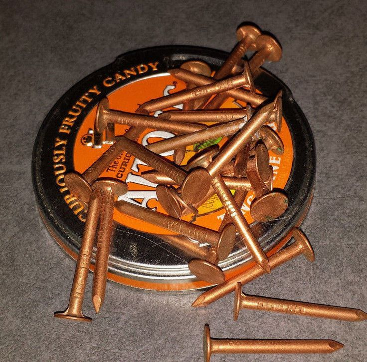 """2"""" Smooth Plain Shank Solid Copper Roofing Nails TREE STUMP KILLER (25)"""