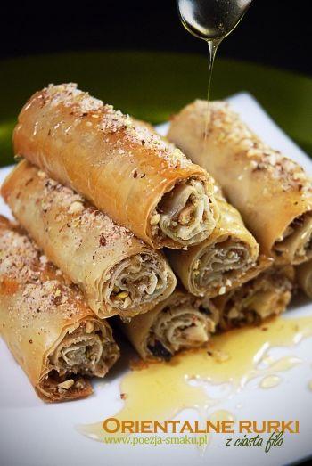 Orientalne rurki z ciasta filo / Oriental Filo Cakes (recipe in Polish)