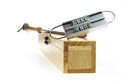 BBQ stampo ferro da marchio - Con lettere intercambiabili e scatola in legno - Accessori da griglia - Regalo per uomo: Amazon.it: Casa e cucina