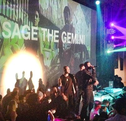 Sage the Gemini hits the stage at Supperclub LA! #GRAMMYs #MusicUnleashes