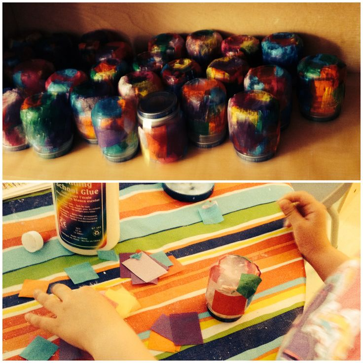 Paper Mache flower vases for our upcoming art surprise!