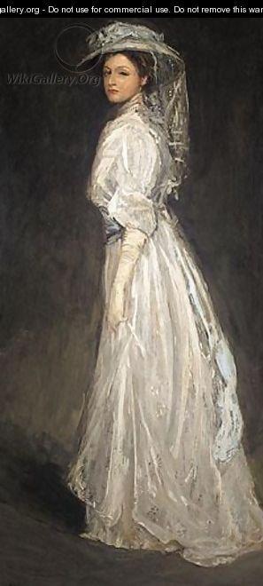 Portrait Of Mrs Charles Baker - Sir John Lavery