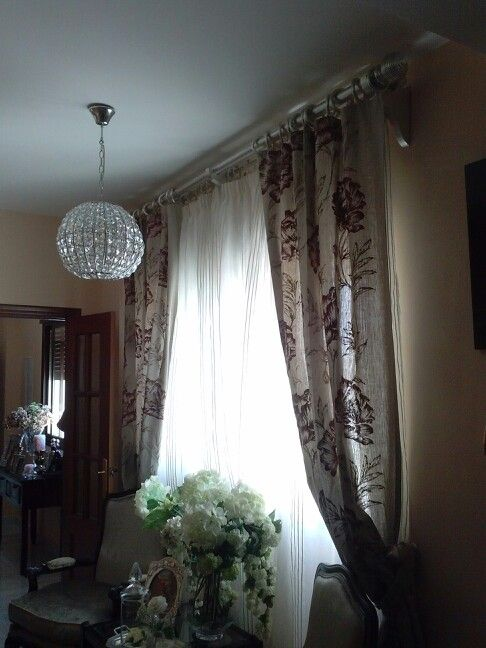 Barra doble pan de plata barra cortina y galerias - Barra doble cortina ...