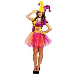 Disfraz de bufón divertido para mujer