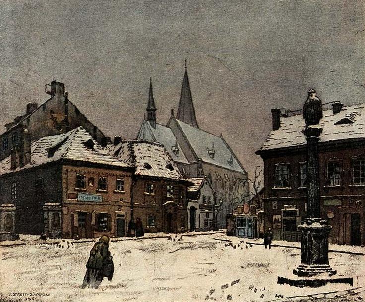 St. Apollinaris Place, Prague, by Jaromir Stretti-Zamponi (1911)