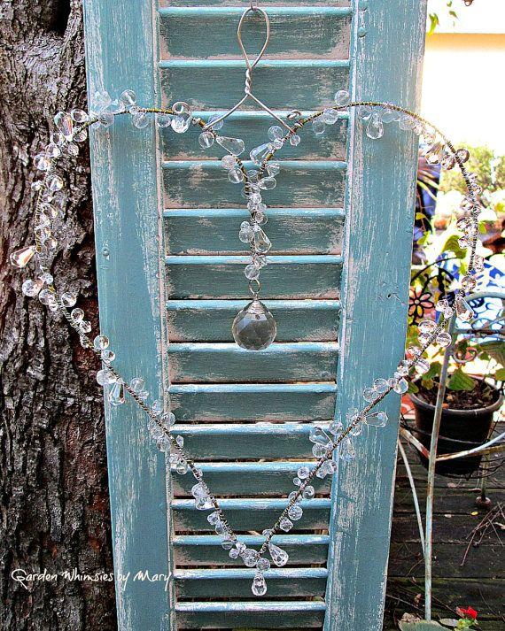 Crystal Heart Sun Catcher Garden Whimsy By