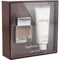 Euphoria by Calvin Klein for Men Gift Set - 2 pcs. by Calvin Klein. $27.42. Euphoria by Calvin Klein for Men. Recommended for casual wear. Euphoria by Calvin Klein for Men - 2 Pc Gift Set 1Ounce EDT Spray, 3.4Ounce After Shave Balm. This fragrance has a blend of ginger, pepper cocktail, cedar leaf, raindrop accord, creamy suede, patchouli, chilled sudachi, black basil, hydroponic sage, Brazilian redwood and solid amber.