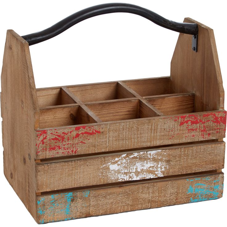 Wooden Segmented Carry Crate - TK Maxx