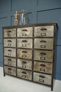 Vincent & Barn | Iron Unit | Industrial Drawers | Storage Solutions | Vintage Furniture | Reclaimed | Original | Design Inspiration | Loft Living | Warehouse Home Design Magazine