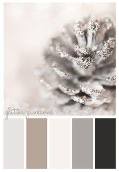 Glitter pine cone palette.