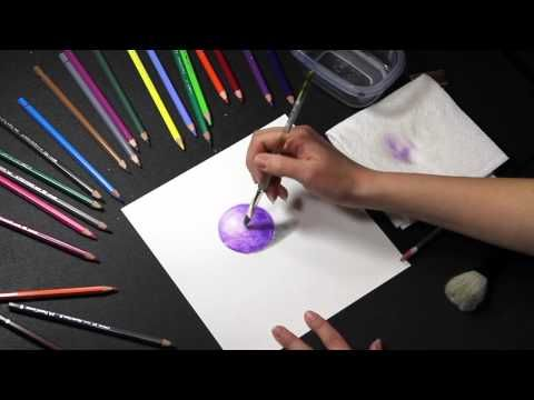 COLORED PENCIL: How to Use Water Soluble Colored Pencils (Watercolor Pencils) - YouTube