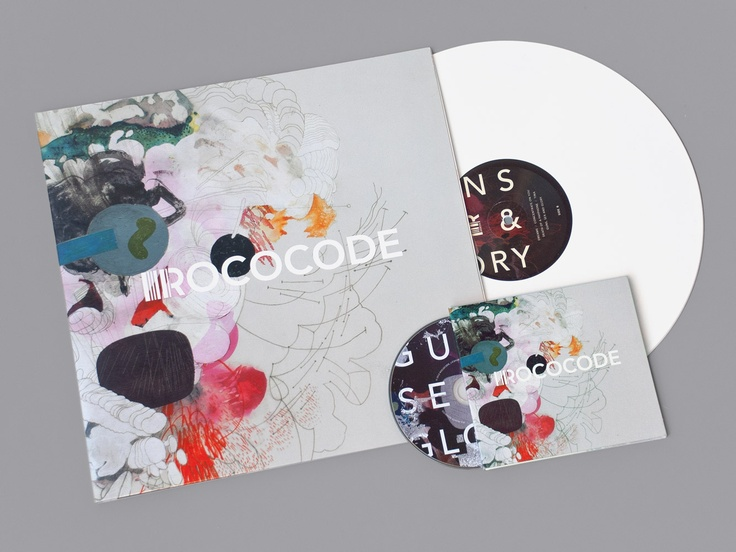 Identity design, album artwork and accompanying material for the pop band Rococode.