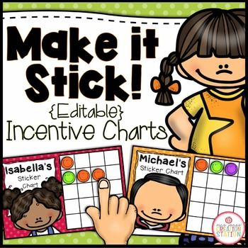Incentive Charts - EditableUse these incentive charts to help your students at school or children at home stay motivated.  Simple edit the text, print and give away stickers or stamps for great choices!Free | Sticker Chart | Incentive Chart | Reward System | Behavior Management | ***************************************************************************Check out these related productsMore Summer Resources More Free Resources…