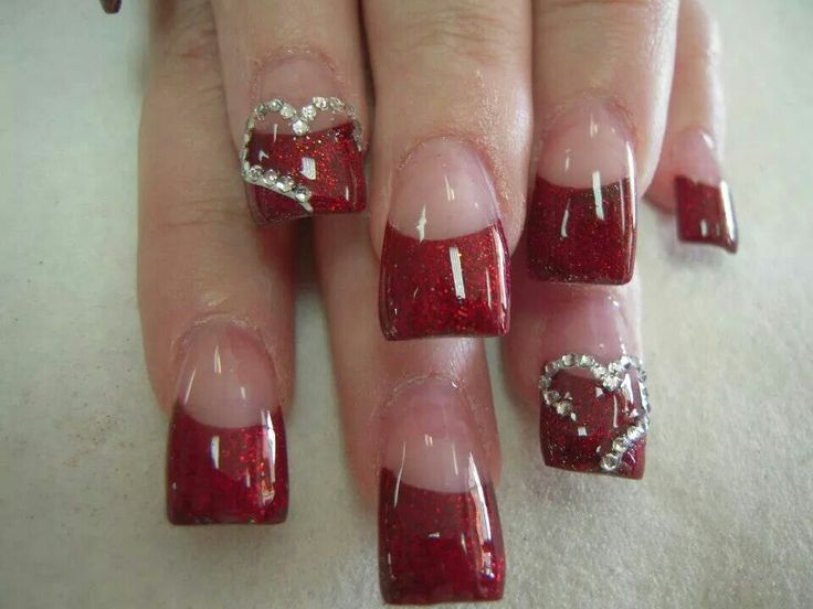 Valentines Acrylic Nail Designs Best Nail Designs 2018