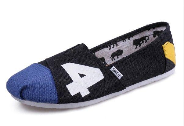 Toms black blue men shoes sale