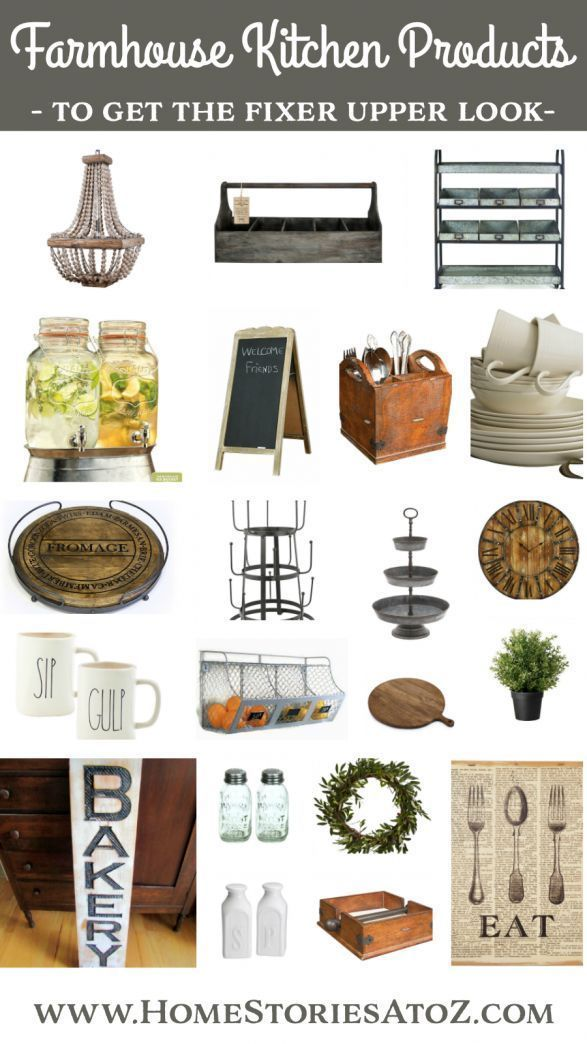 Shop for farmhouse kitchen products to get the Fixer Upper look