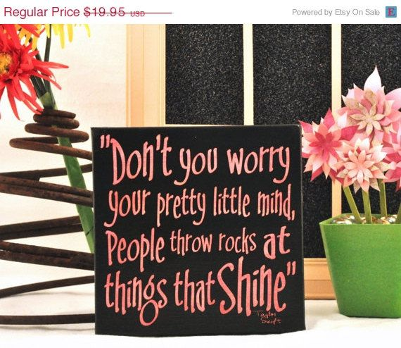 Super Sale Taylor Swift Things That Shine Expressive Art On Canvas Wall Decor For Dorm Bedroom