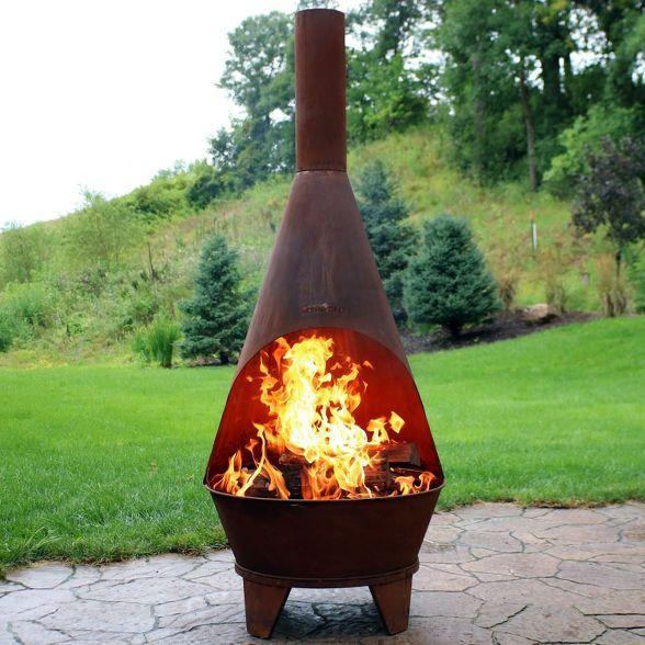 Rustic Wood Burning Chiminea Sunnydaze Decor Target Outdoor Wood Burning Fireplace Chiminea Fire Pit Wood Burning Fire Pit