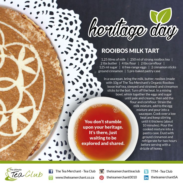 National Heritage Day at it's best with Rooibos. Share this recipes with friends and family! 24september #heritageday #publicholiday #cookwithtea #rooibos #teaobsessed #teamtea #tealover