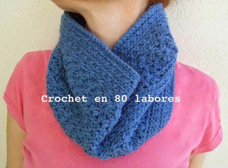 Mejores 12 imágenes de bufandas de crochet en Pinterest   Bufandas ...