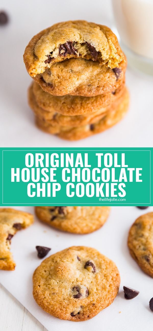 This is the Original Nestle's Toll House Cookie Recipe. It's by far the very best chocolate chip cookie recipe- the perfect dessert for kids and adults alike! via @thelifejolie