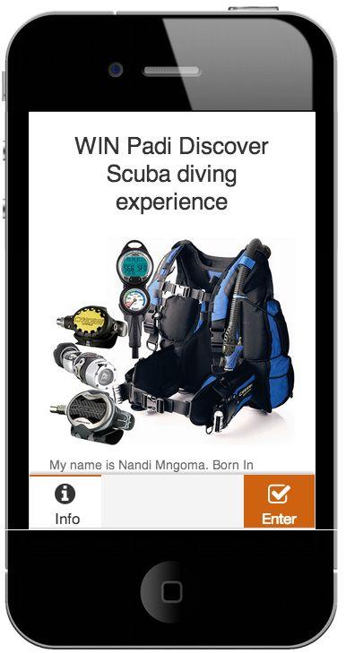 #Scuba Diving #Mobi #Micro site