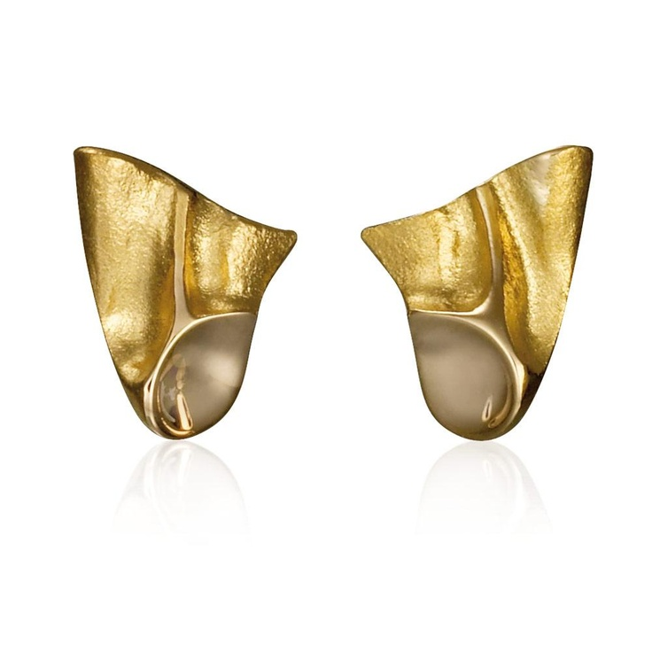 AMARA  Design Zoltan Popovits / Gold Earrings / Lapponia Jewelry / Handmade in Helsinki