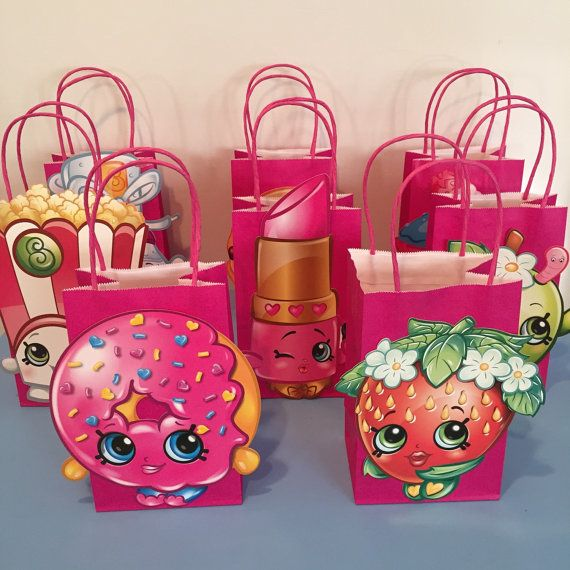 Shopkins Party Favor Bags by LittleArtistShop on Etsy