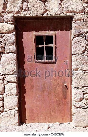 Metal Door In With Christian Cross At St. Catherineu0027s Monastery, South  Sinai Peninsula,