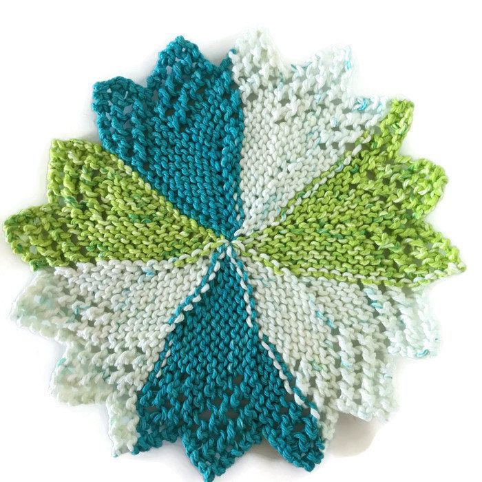 Dish Cloth,Pinwheel Flower-Star Wash Cloth, Gift,Eco Friendly, Hostess Gift, Cotton Kitchen Cloth, Hand Knit Dish Cloth, Gift for Him or Her by AllSylviasCreations on Etsy