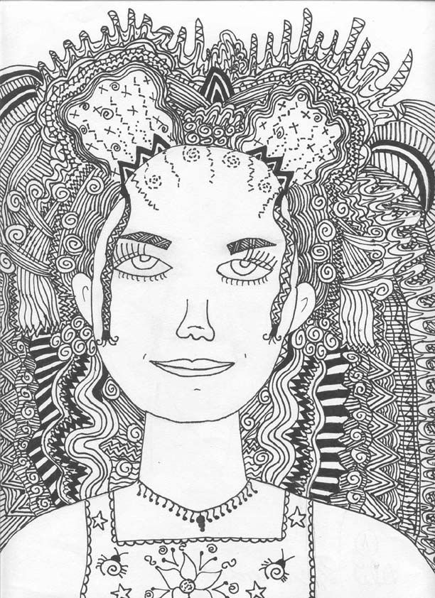 Line Design Art Ideas : Images about zentangle hair on pinterest tangled