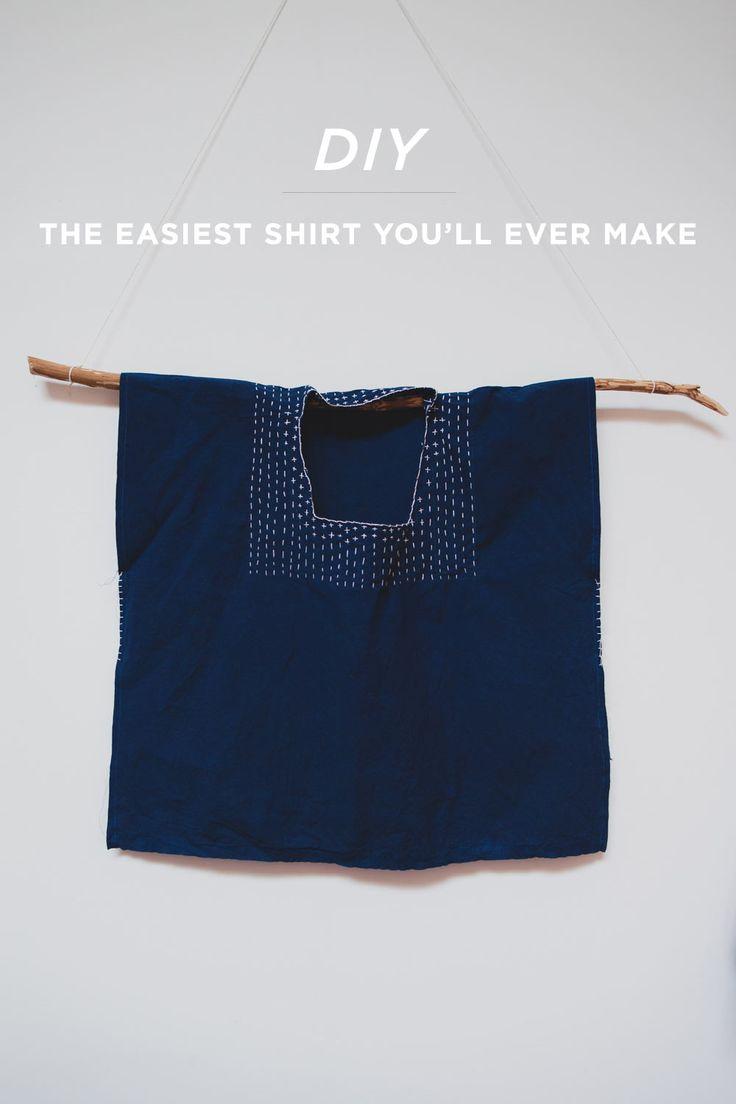 DIY huipil shirt