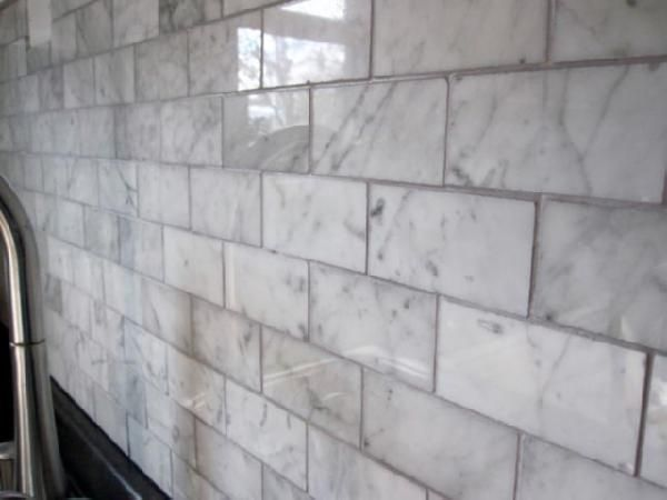 Marble subway tile; kitchen backsplash. Carrara Subway Tiles - Home Depot… - 25+ Best Ideas About Marble Subway Tiles On Pinterest Marble