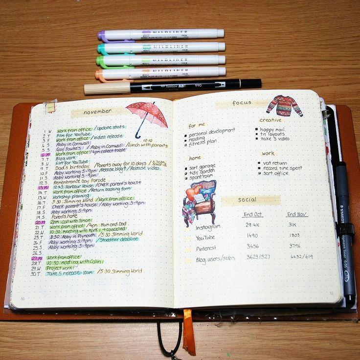 My monthly layout in my bullet journal #bujo #bulletjournal #planner
