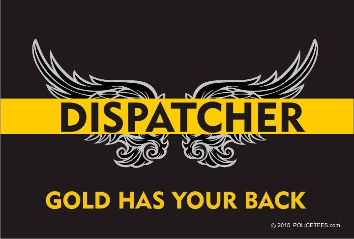 "4"" Thin Gold Line Dispatcher - Gold Has Your Back Reflective Decal SKU…"