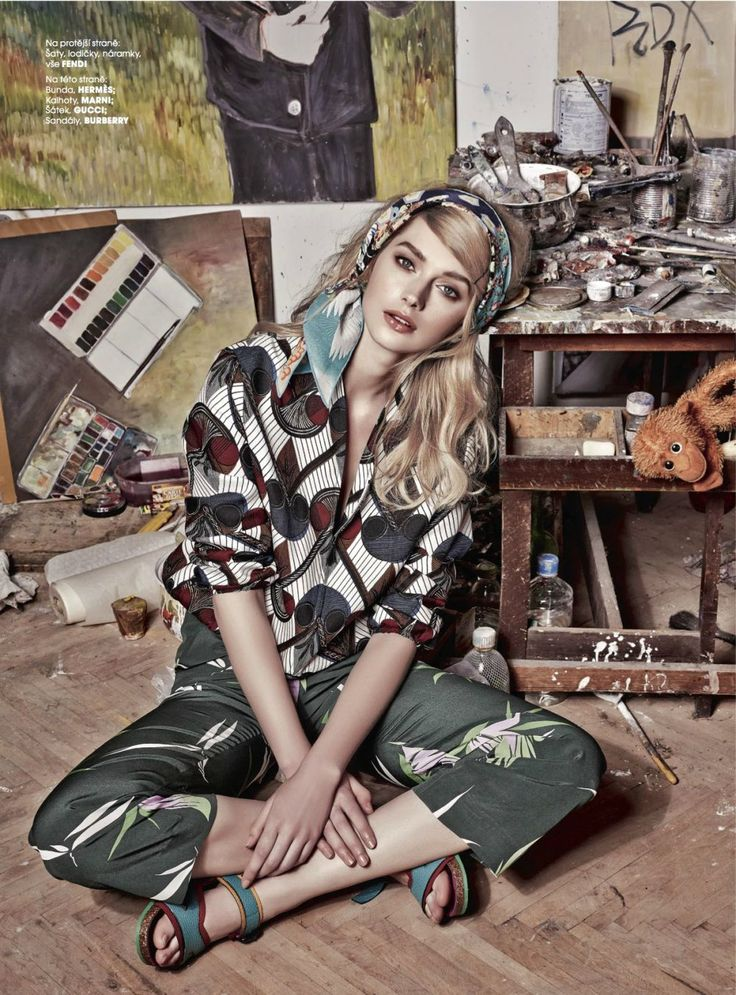 """Art Attack"" Niki Hadju for Marie Claire Czech May 2015"