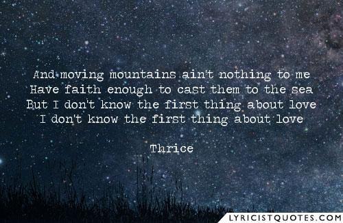 #thrice #lyrics