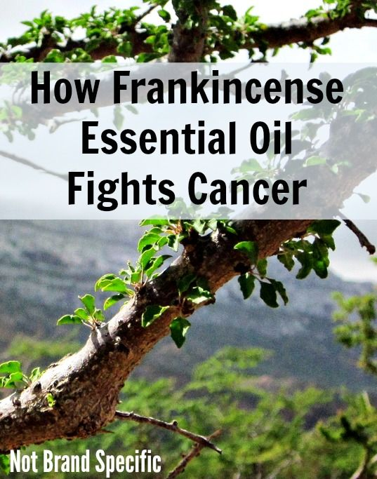Fight cancer with frankincense oil.