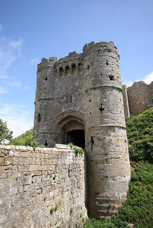 Carisbrooke Castle is a historic castle located in the village of Carisbrooke, Isle of Wight, England